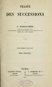 Cover of: Cours de Code Napoléon by Charles Demolombe