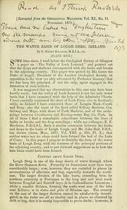 Cover of: The water basin of Lough Derg, Ireland by G. Henry Kinahan