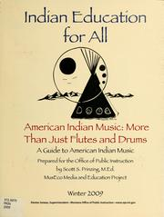 Cover of: American Indian music: more than just flutes and drums by Scott S. Prinzing