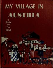 Cover of: My village in Austria by Sonia Gidal