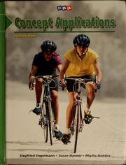 Cover of: Concept applications by Siegfried Engelmann