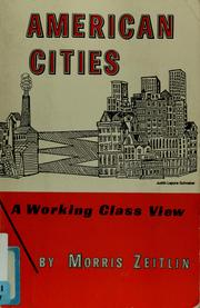Cover of: American cities by Morris Zeitlin