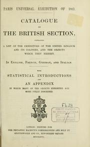 Cover of: Catalogue of the British Section by Exposition universelle de 1867 à Paris