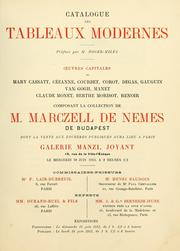 Cover of: Collection Marczell de Nemes de Budapest by Marcell Nemes