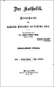 Cover of: Der Katholik by Johann Michael Raich