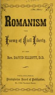 Cover of: Romanism by David Elliott
