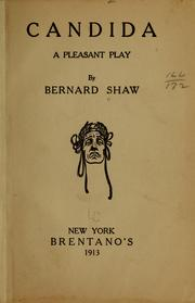 Cover of: Candida | George Bernard Shaw