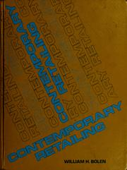Cover of: Contemporary retailing by William H. Bolen