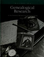 Cover of: Guide to genealogical research in the National Archives of the United States by United States. National Archives and Records Administration.