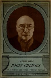 Cover of: Pages choisies by André Gide