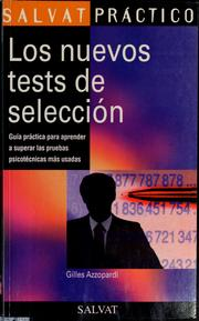 Cover of: Los nuevos tests de seleccin by Gilles Azzopardi