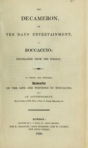 Cover of: Decamerone by Giovanni Boccaccio