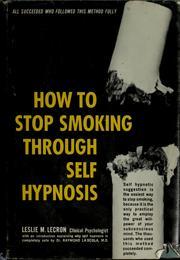 How to Stop Smoking Through Self-Hypnosis le cron