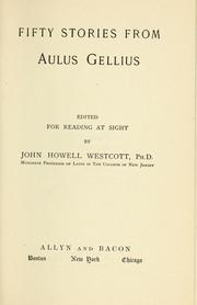 Cover of: Fifty stories from Aulus Gellius by Aulus Gellius