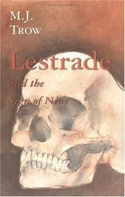 Cover of: Lestrade and the sign of nine by M. J. Trow