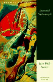 Cover of: Existential psychoanalysis by Jean-Paul Sartre