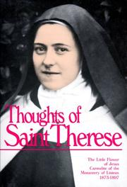 Cover of: Thoughts of St. Therese by Saint Therese of Lisieux