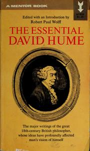 Cover of: The essential David Hume by David Hume
