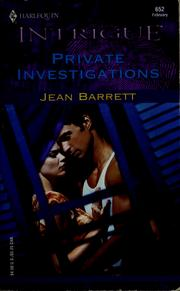 Cover of: Private investigations by Jean Barrett