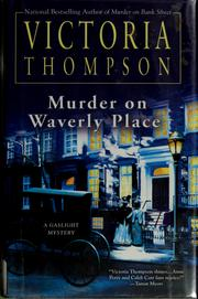 Cover of: Murder on Waverly Place by Victoria Thompson