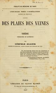 Cover of: Des plaies des veines by Louis Ollier