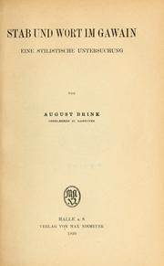 Cover of: Stab und Wort im Gawain by August Brink