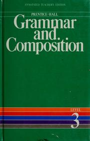 Cover of: Prentice-Hall grammar and composition by Gary Forlini
