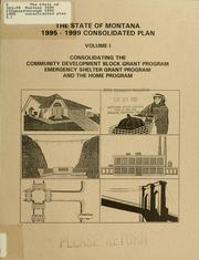 Cover of: The State of Montana 1995 through 1999 consolidated plan by Western Economic Services