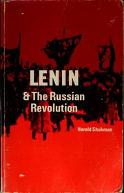 Cover of: Lenin and the Russian Revolution by Harold Shukman