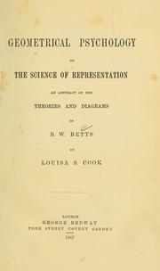 Cover of: Geometrical psychology, or, The science of representation by Louisa S. Cook