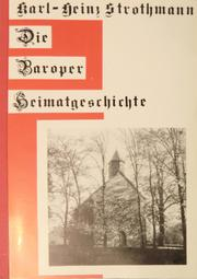Cover of: Die Baroper Heimatgeschichte by Karl Heinz Strothmann
