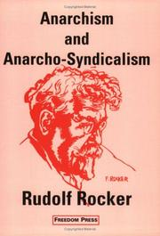 Cover of: Anarchism and anarcho-syndicalism by Rudolf Rocker