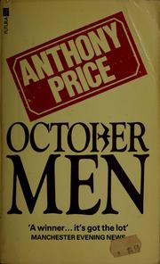 Cover of: October men by Anthony Price