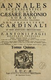Cover of: Annales ecclesiastici by Cesare Baronio