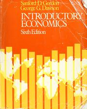 Cover of: Introductory economics by Sanford D. Gordon