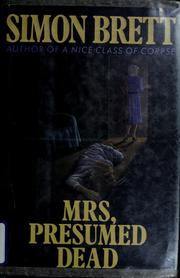 Cover of: Mrs, presumed dead by Simon Brett