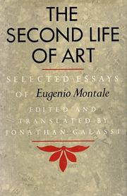 Cover of: The second life of art by Eugenio Montale