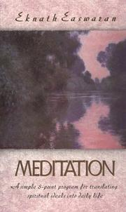 Cover of: Meditation by Eknath Easwaran, Easwaran Eknath