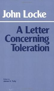 Cover of: A Letter Concerning Toleration by John Locke