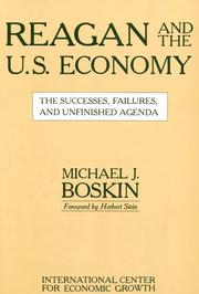 Cover of: Reagan and the Economy by Michael J. Boskin
