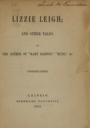 Cover of: Lizzie Leigh, and other tales by Elizabeth Cleghorn Gaskell