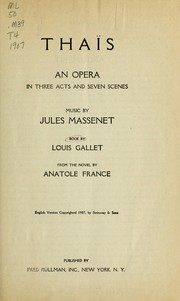 Cover of: Thaïs by Jules Massenet