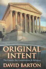 Cover of: Original Intent by David Barton (1954-)