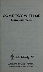 Cover of: Come toy with me by Cara Summers