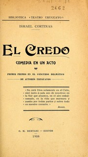 Cover of: El credo by Ismael Cortinas