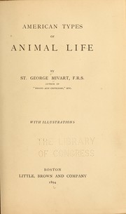 Cover of: American types of animal life by St. George Jackson Mivart