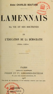 Cover of: Lamennais by Charles Boutard