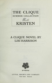 Cover of: Clique Summer Collection #4:Kristen by Lisi Harrison