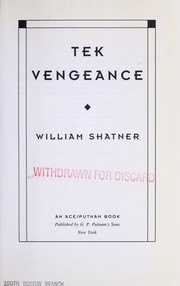 Cover of: Tek vengeance by William Shatner