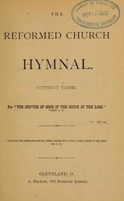 Cover of: The Reformed Church hymnal by Reformed Church in the United States